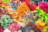 Colourful candy at the Boqueria — Stock Photo
