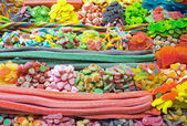 Piles of candy at the Boqueria — Stock Photo