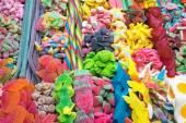 Delicious candy at the Boqueria — Stock Photo