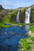Waterfall in the Gjain gorge — Stock Photo