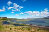 Road and river in Iceland — Stock Photo
