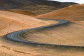 Winding road in Iceland — Stock Photo