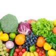 Fresh fruits and vegetables — Stock Photo #55141299