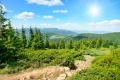 High mountains and sun  — ストック写真