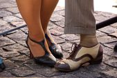 Feet in Buenos Aires, Argentina — Stock Photo