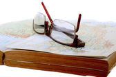 Glasses over a book — Stock Photo