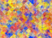 Multicolored square Shapes in Chaotic Arrangement. Holiday bokeh — Stock Photo