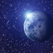 White flash of space planet. cosmos sky backgrounds — Stock Photo #53456961