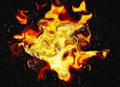 Fire flash on black backgrounds — Stock Photo