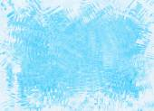 Uneven frozen ice blue frame backgrounds — Stock Photo