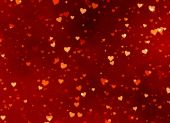 Red hearts backgrounds of Valentine's day. Love texture — Foto de Stock