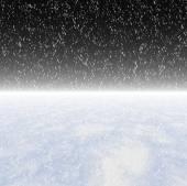 Snowfall on a night sky — Stockfoto