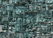 Futuristic industrial city abstract backgrounds — Photo