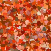 Many red small hearts backgrounds — Stock Photo