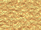 Many gold hearts background of Valentine's day. Love texture — Stock Photo