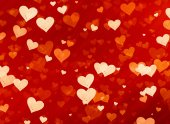 Many red small speckle hearts backgrounds — 图库照片