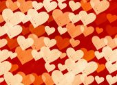 Many red small speckle hearts backgrounds — Stock Photo