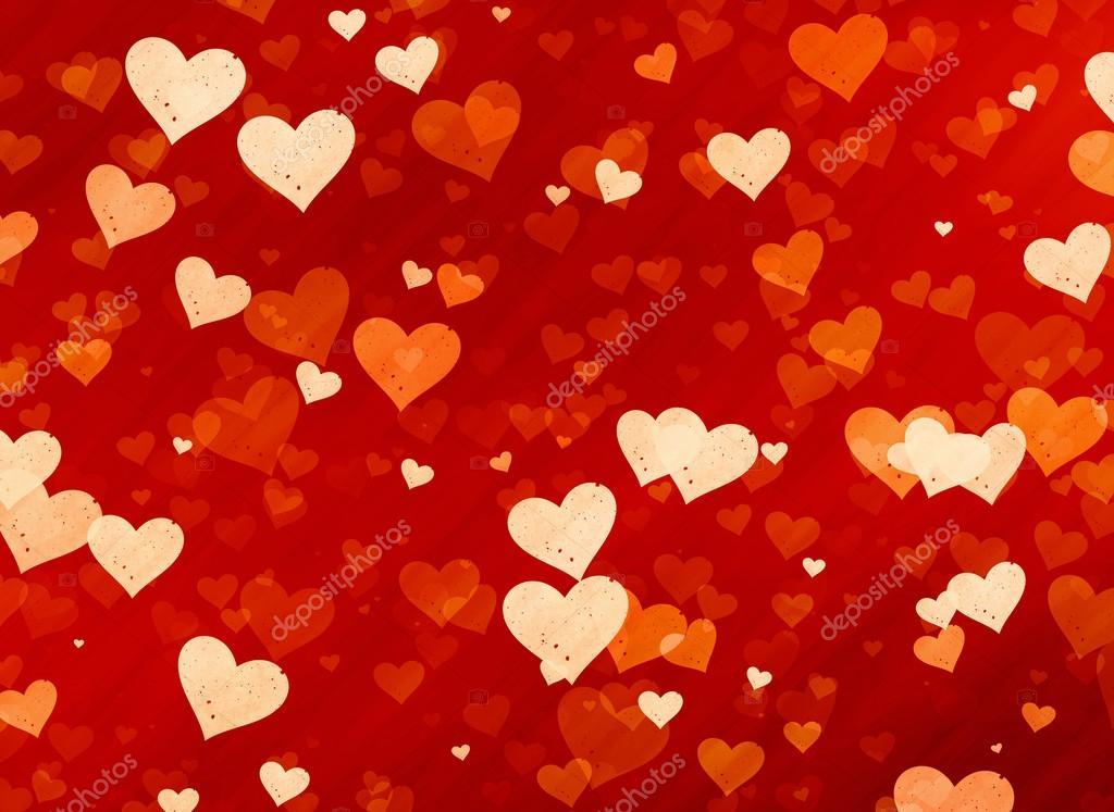 很多红色的小斑点的心背景 — 图库照片08docer2000