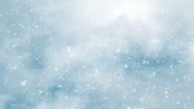 Snowfall motion of a winter cold weather — ストックビデオ