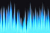 Waveform blue lights with copy space — Stock Photo