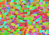 Multicolored building structure from cubes. Abstract architectur — Stockfoto