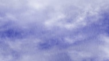 Rain of blue sky clouds backrounds — Stock Video