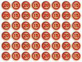 Number 2015 from a lotto object with clipping path — Stock Photo