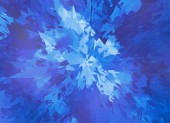 Burst of blue broken particle crystal — Stock Photo