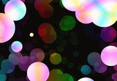 Bokeh backgrounds of multicolored soap bubbles in Chaotic Arrang — Stock Photo