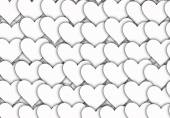 White hearts backgrounds of Love symbol with copy space — Stock Photo