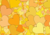 Many hi-res yellow hearts backgrounds of Love symbol — Stock Photo