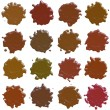 Many different sealing-wax stamp shape — Stock Photo #66388857