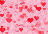 Red hearts backgrounds. Love texture — Stock Photo