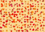 Hearts and stars backgrounds. Holiday symbol — Stock Photo