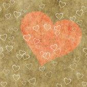 Heart on a grunge background. Love symbol — Fotografia Stock