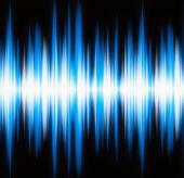 Wellenform blau leuchten mit textfreiraum — Stockfoto