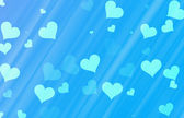 Flying hearts on blue backgrounds. Love texture — Foto Stock