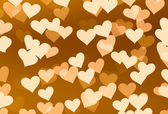 Flying hearts on brown backgrounds — Stock Photo