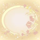 Fondo de flores hermosas — Vector de stock