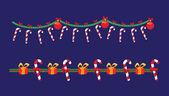 Christmas holiday garland — Vector de stock