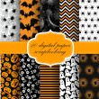 Halloween Digital Paper — Stock Vector #54970235