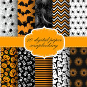 Halloween Digital Paper — Stock Vector