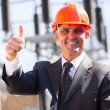 Middle-aged manager giving thumb up — Stock Photo #57222709