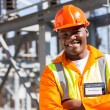 African engineer with arms crossed — Stock Photo #57224169