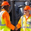 Power company co-workers hand shaking — Stock Photo #57226817