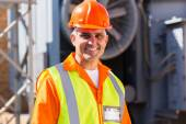 Mid age male electrician — Stock Photo