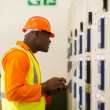 Technical worker in control room — Stock Photo #57230637