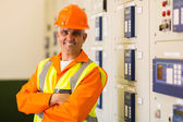 Engineer with arms crossed — Stock Photo