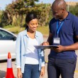 Student driver with instructor — Stock Photo #57402159