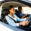 Woman taking driving test — Stock Photo #57403649